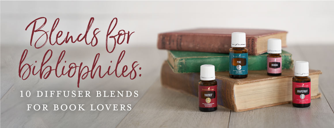 Thieves, pine, manuka, and grapefruit essential oils smell like books when diffused