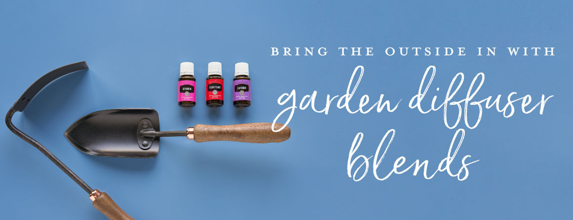 lavender, ylang ylang, and geranium make a garden diffuser blend