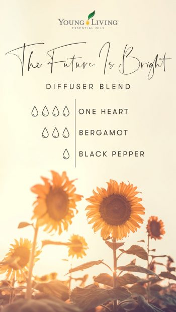 4 drops One Heart 3 drops Bergamot 1 drop Black Pepper
