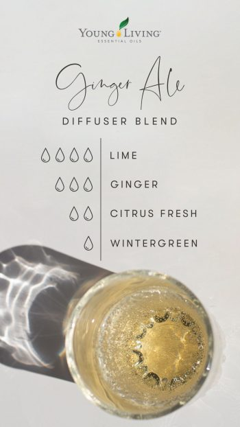 4 drops Lime 3 drops Ginger 2 drops Citrus Fresh 1 drop Wintergreen