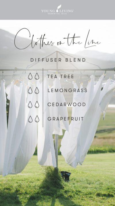 2 drops Tea Tree 2 drops Lemongrass 2 drops Cedarwood 2 drops Grapefruit