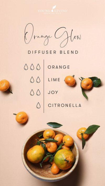 3 drops Orange 2 drops Lime 2 drops Joy 1 drop Citronella