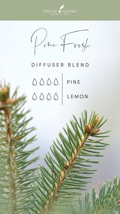 4 drops Pine 4 drops Lemon