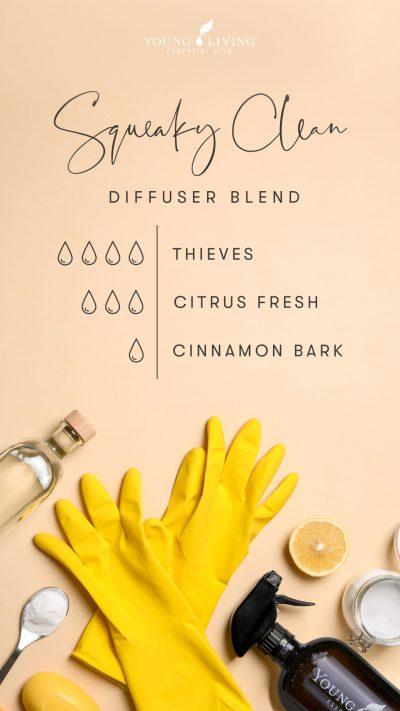 4 drops Thieves 3 drops Citrus Fresh 1 drop Cinnamon Bark