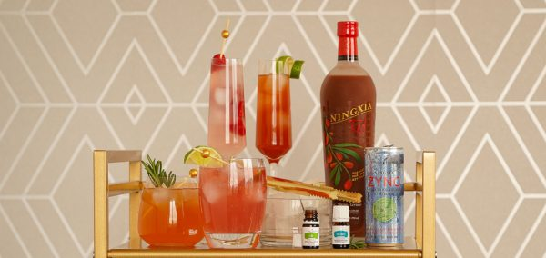 holiday mocktails with vitality oils