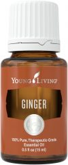 bottle of Ginger Essential Oil, a good essential oil for men