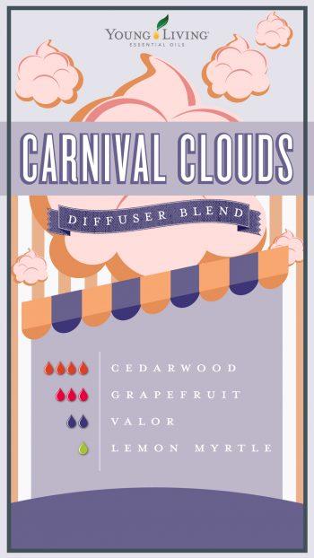 cotton candy diffuser blend with 4 drops cedarwood, 3 drops grapefruit, 2 drops valor, 1 drop lemon myrtle