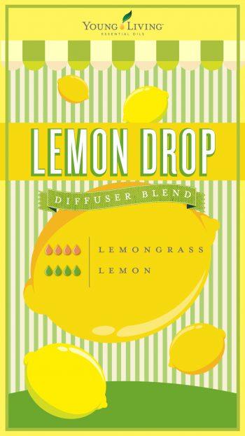 lemon drop diffuser blend with 4 drops lemongrass and 4 drops lemon
