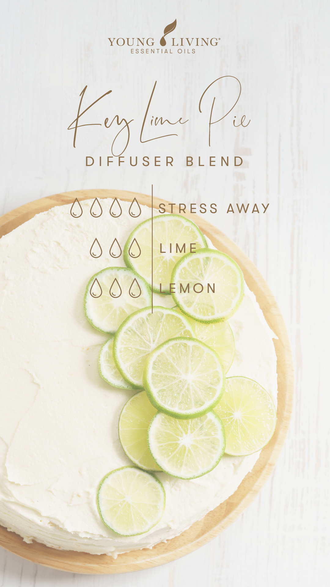 4 drops Stress Away 3 drops Lime 3 drops Lemon