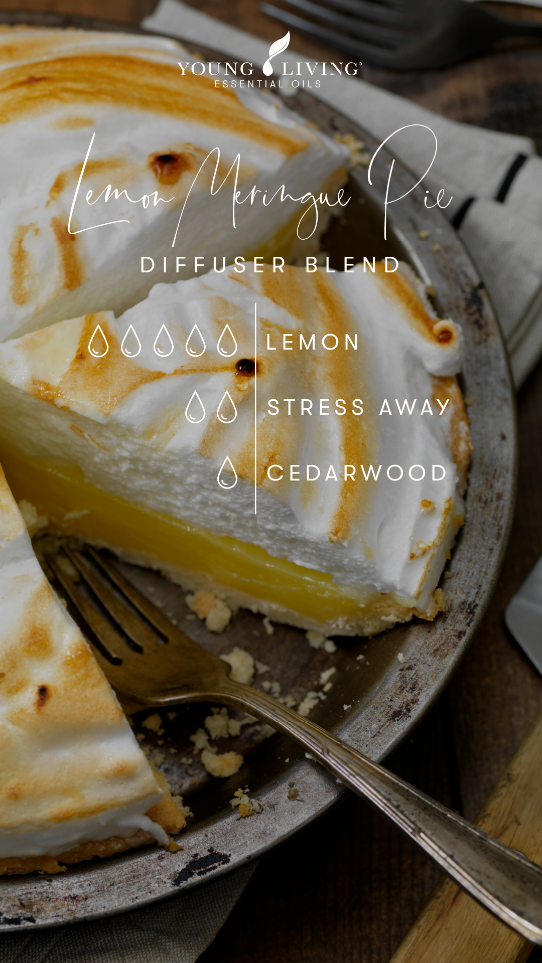 5 drops Lemon 2 drops Stress Away 1 drop Cedarwood