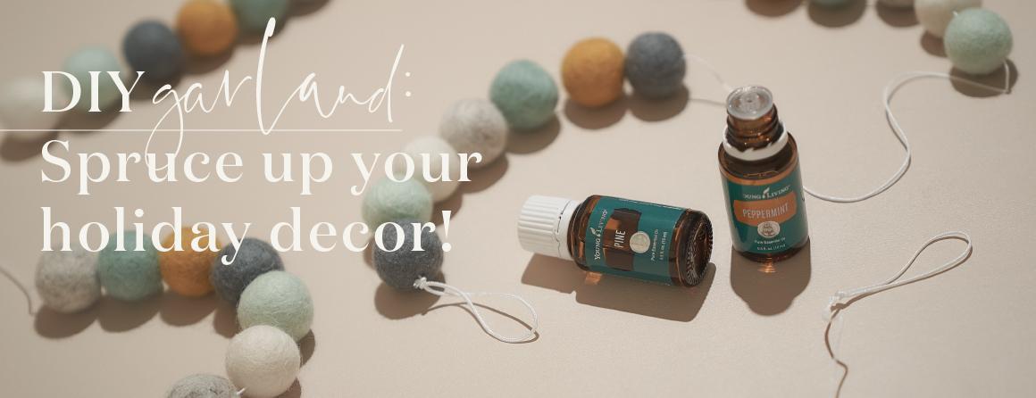 DIY garland - Sprue up your holiday decor