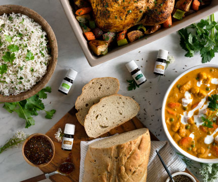 Pretty food and young living essential vitality oils