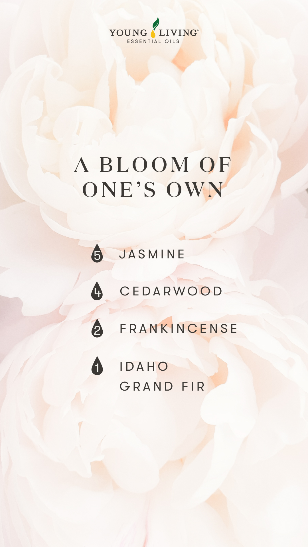 A bloom of one's own diffuser blend