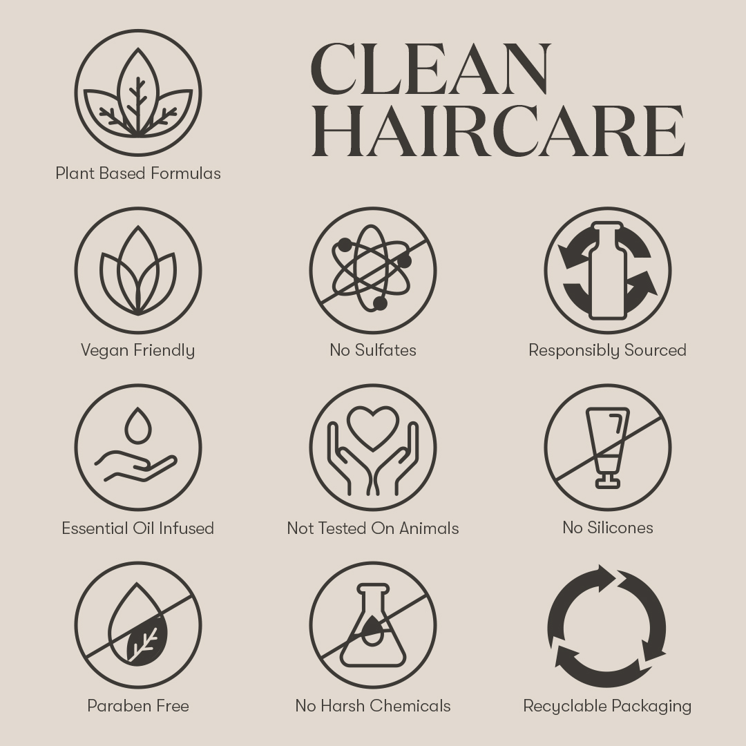 Clean haircare infographic - Young Living essential oils